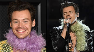 Harry Styles performed shirtless at the Grammys