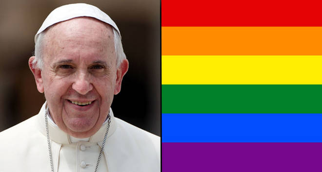 Pope Francis says the Catholic Church can't bless same-sex unions.
