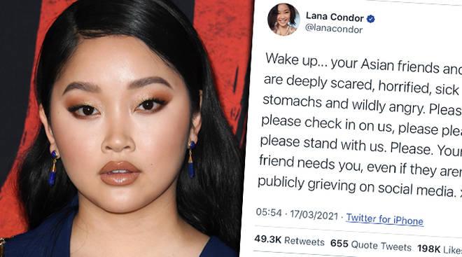 Lana Condor shares powerful 'Stop Asian Hate' tweet