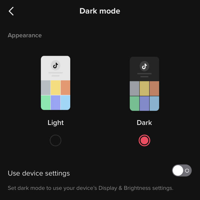 How to enable TikTok dark mode