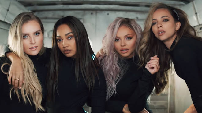 Little Mix in the 'Woman Like Me' music video