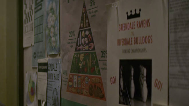Baxter High vs. Riverdale High's bowling tournament was advertised on the bulletin board