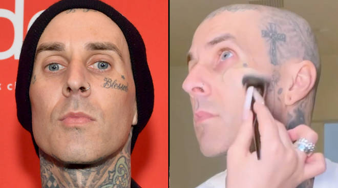 Travis Barker's daughter Alabama covers his face tattoos