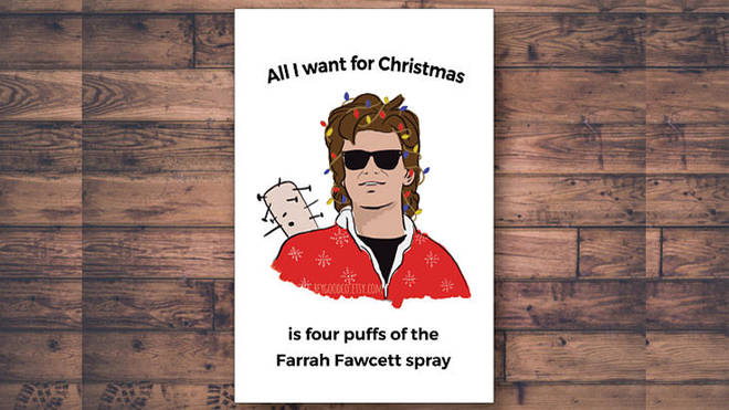 Steve Harrington Christmas Card