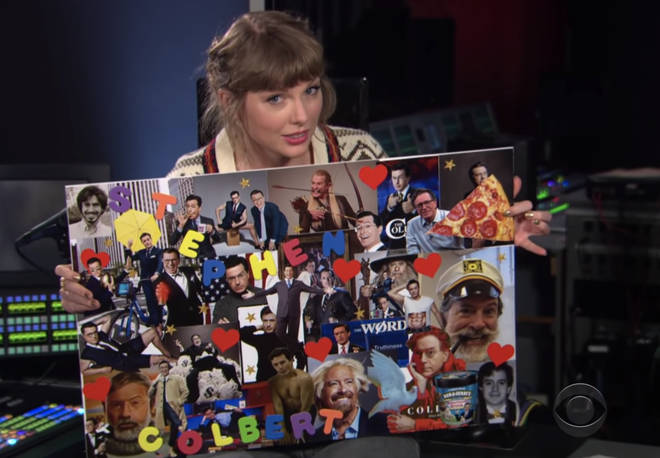 Taylor Swift's Stephen Colbert mood board contains 1989 easter eggs