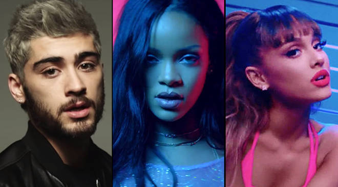 Zayn, Rihanna and Ariana Grande
