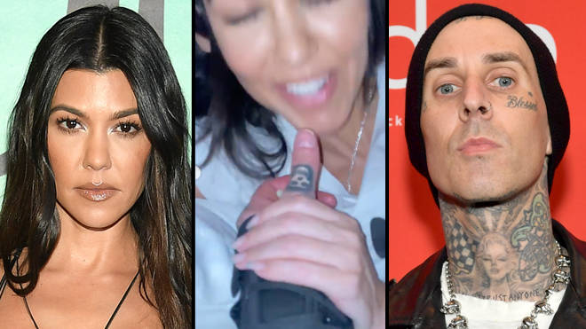 Travis Barker shares NSFW video of Kourtney Kardashian sucking his thumb