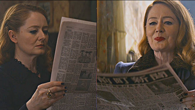 Zelda Spellman reads newspapers in different languages