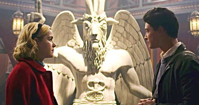 Baphomet Statue in 'Chilling Adventures of Sabrina'