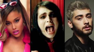 Ariana Grande, My Chemical Romance and Zayn