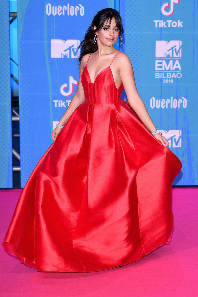 Camila Cabello at the MTV EMAs 2018