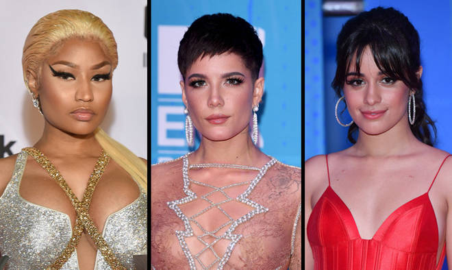 Nicki Minaj, Halsey and Camila Cabello at the MTV EMAs 2018