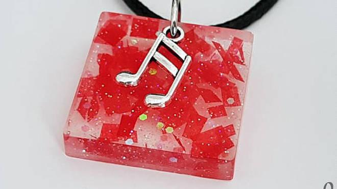 'Trees' Confetti Necklace, Square