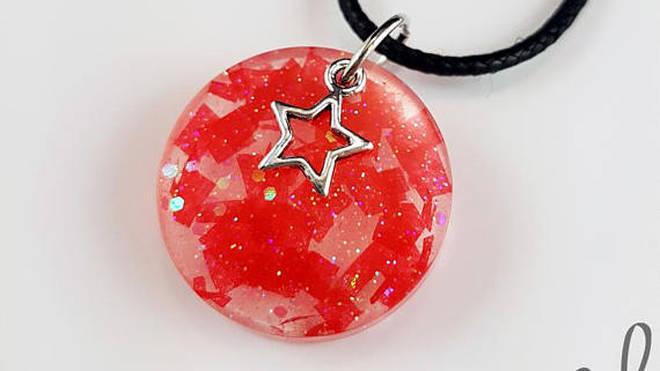 'Trees' Confetti Necklace, Circle