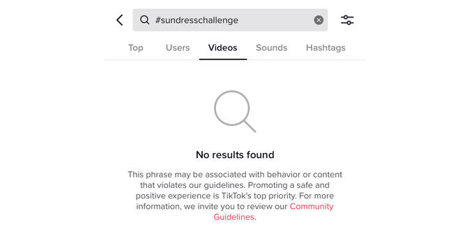 #SundressChallenge has been blocked on TikTok