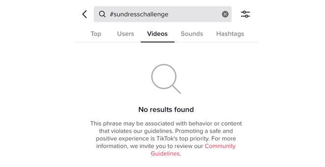 #SundressChallenge has been blocked on TikTok
