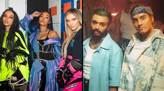 Little Mix perform as male alter-egos with Drag Race UK stars in Confetti video
