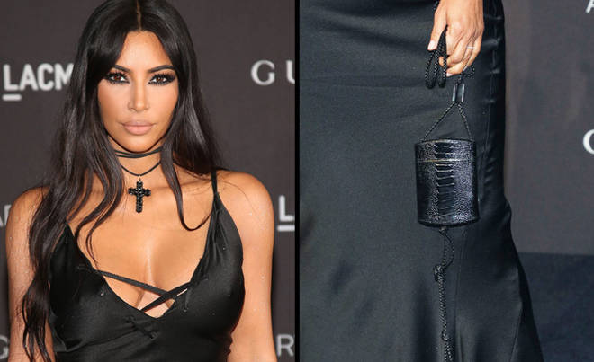 Kim Kardashian West attends the 2018 LACMA Art+Film Gala at LACMA/bag close-up