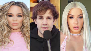 "Trisha Paytas accuses David Dobrik of ""pushing"" them to have a threesome with Tana Mongeau"