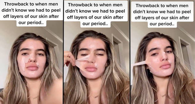 Does your skin peel on your period?