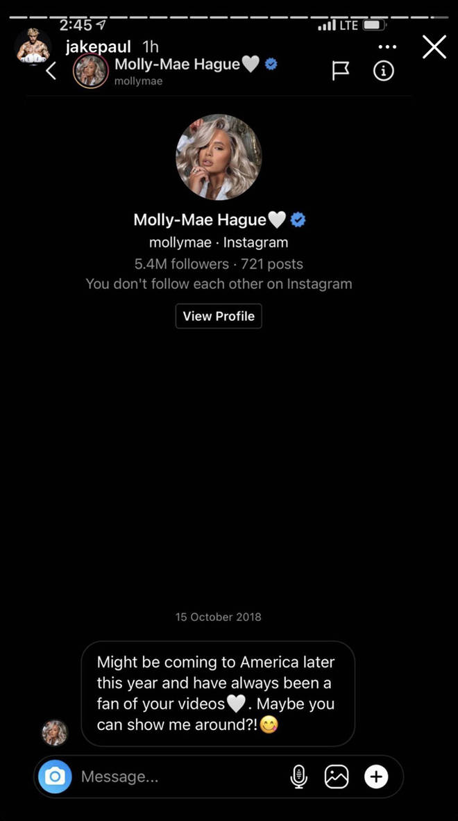 Molly-Mae's alleged private message