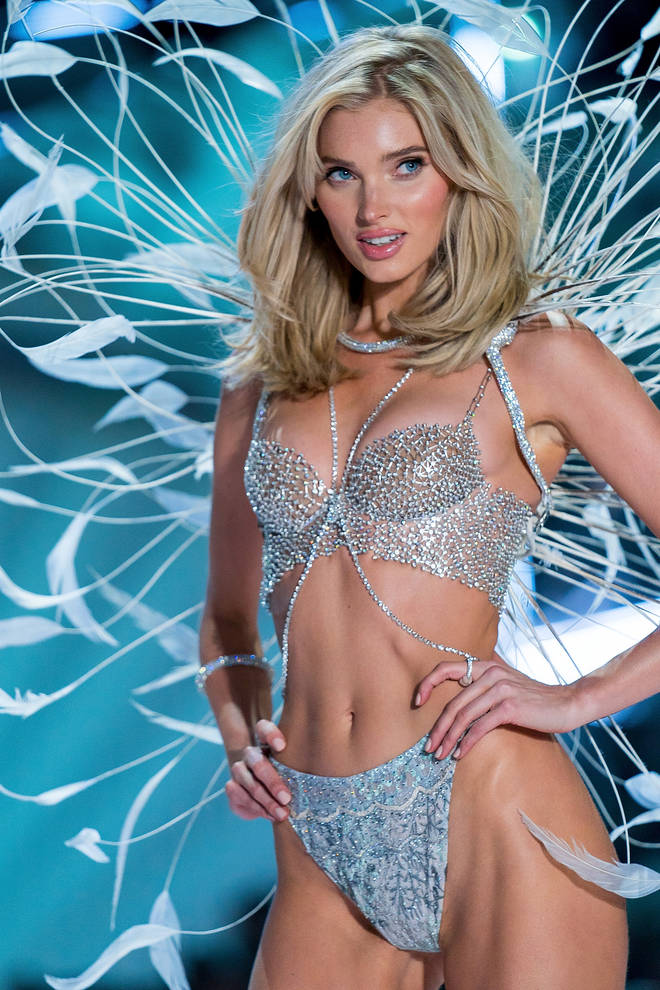 Elsa Hosk walks the runway during the 2018 Victoria's Secret Fashion Show