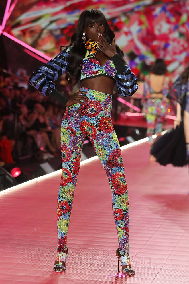 Duckie Thot walks the runway during the 2018 Victoria's Secret Fashion Show