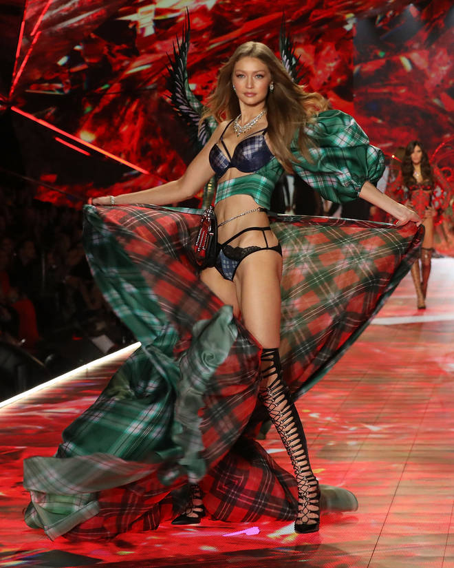 Gigi Hadid walks the runway during the 2018 Victoria's Secret Fashion Show