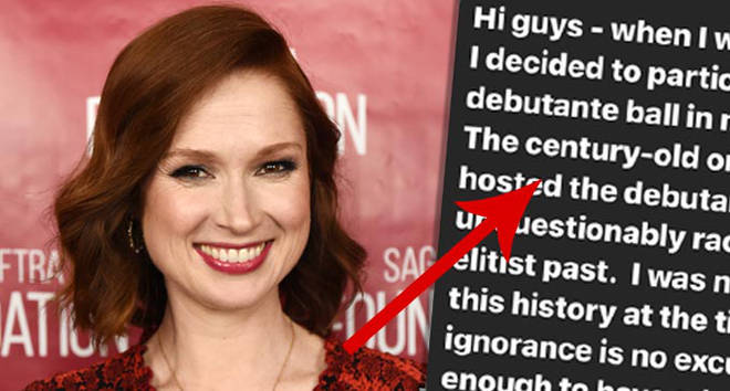 """Ellie Kemper apologises for participating in """"racist, sexist and elitist"""" Veiled Prophet ball."""