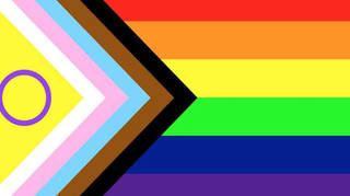 The Pride flag has been redesigned to include the intersex community