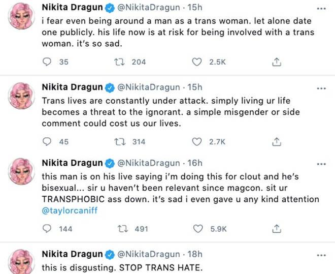 Nikita Dragun Tweets