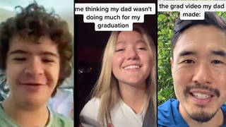 Teen's wild graduation video with messages from 14 celebs goes viral