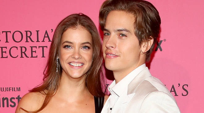 Barbara Palvin and Dylan Sprouse at Victoria's Secret Fashion Show 2018