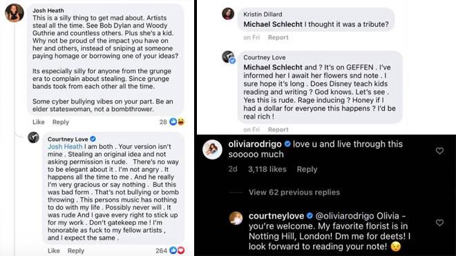 Courtney Love accuses Olivia Rodrigo of ripping off her Hole album cover