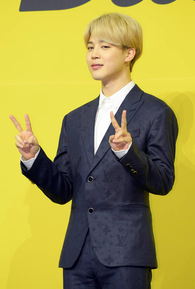 Jimin of BTS attends a press conference for BTS's new digital single 'Butter'