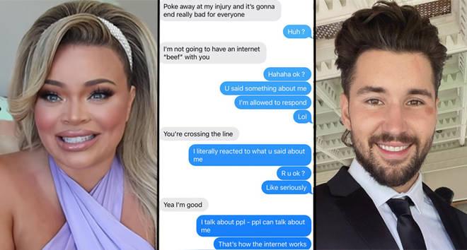 "Trisha Paytas shares ""threatening"" text messages from Jeff Wittek"