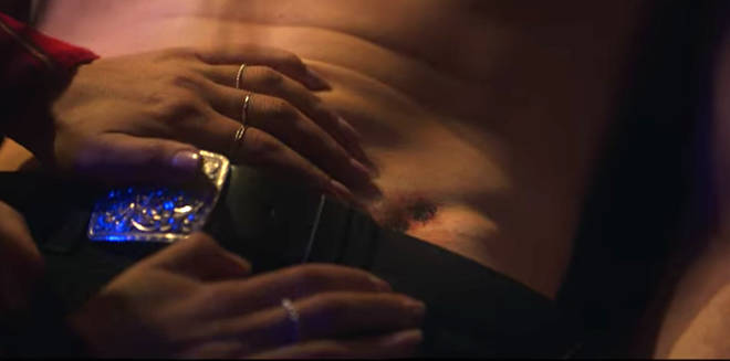 Sex/Life: Brad's bumblebee tattoo is shown in a flashback