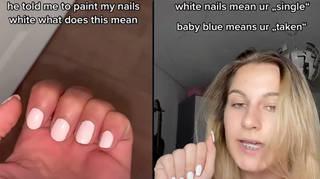 What does white nail polish mean on TikTok?
