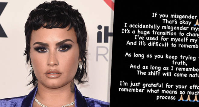 Demi Lovato says it's okay if you accidentally misgender them.