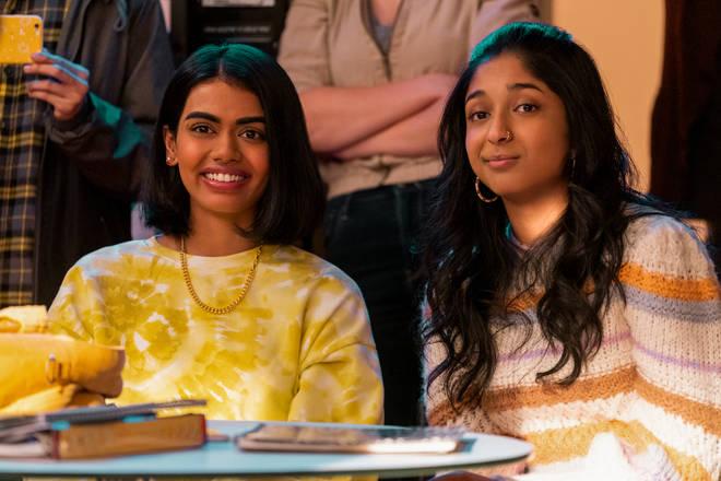 Aneesa (Megan Suri) and Devi (Maitreyi Ramakrishnan) in Never Have I Ever season 2