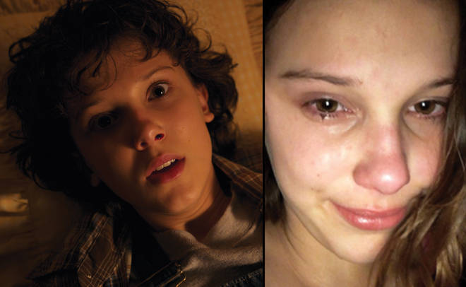 Millie Bobby Brown season 2 Stranger Things and Instagram screenshot