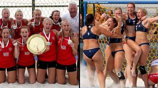 Norway's women's beach handball team fined for wearing shorts instead of bikinis