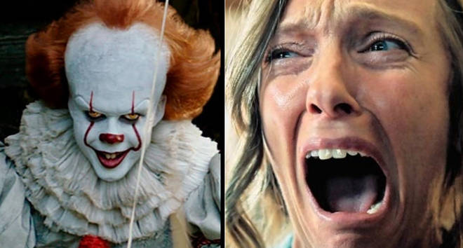Pennywise from 'IT' and Toni Collette in Hereditary