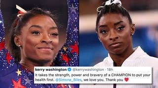 Simone Biles praised for prioritising mental health at Olympics