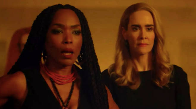 Angela Bassett and Sarah Paulson as Marie Laveau and Cordelia Goode in American Horror Story: Apocalypse