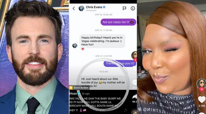Lizzo shares Chris Evans' response to her 'pregnancy rumour' TikTok