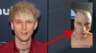 Machine Gun Kelly reveals huge new head tattoo and shaved head