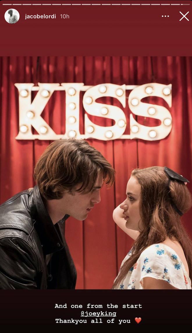 Jacob Elordi thanks Joey King following final Kissing Booth film