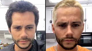 Dylan O'Brien goes blonde for Hulu's Not Okay movie