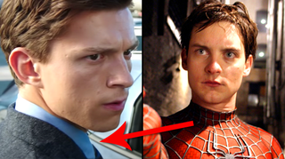 Is Tom Holland wearing the same outfit that Tobey Maguire did as Peter Parker?